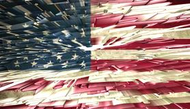American flag, 3D illustration. American flag,best 3D illustration Royalty Free Stock Photography