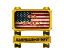 American flag, 3D illustration. American flag,best independence day 3D illustration Stock Image
