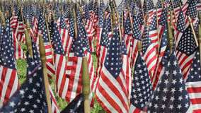 American Flag Decorations stock footage