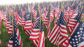 American Flag Decorations stock video footage