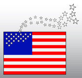 American flag with departing stars Royalty Free Stock Photography