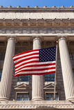 American flag in  the department of commerce building in Washing. Ton - USA Stock Images