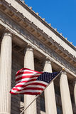 American flag in  the department of commerce building in Washing. Ton - USA Stock Photography