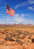 American flag in the desert Royalty Free Stock Photos