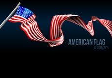 Free American Flag Design Royalty Free Stock Photos - 79720278