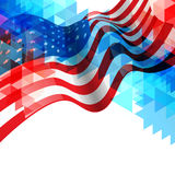 American flag design background Stock Photography