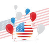 American flag design with balloons Royalty Free Stock Photos