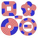 American Flag Design Elements Stock Image