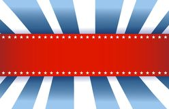American Flag Design, red white and blue. Background Stock Image