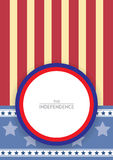 American Flag Design for Retro Style Stock Photography