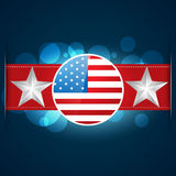 American flag design Stock Image