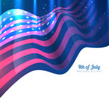 American flag design Stock Photography