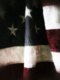 American flag detail grunge Stock Photos