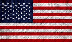 American flag with detailed fabric texture Stock Photos