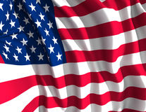 American flag. A digitally illustrated flapping american flag Stock Photos