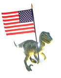 American flag and dinosaur  Stock Images