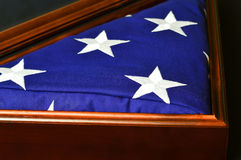 American Flag in Display Case Royalty Free Stock Photo