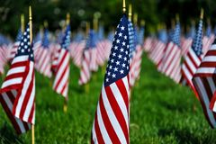 American Flag Display for Holiday Royalty Free Stock Images