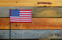 American Flag displayed on pallet wood Stock Photography