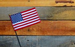 American Flag displayed on pallet wood Stock Image