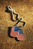 American flag dog tags Stock Image