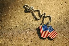 American flag dog tags Royalty Free Stock Images