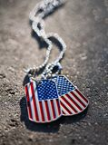 American flag dog tags Royalty Free Stock Image