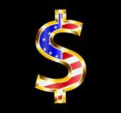 American Flag Dollar Symbol Stock Photos
