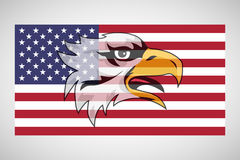 American flag with an eagle royalty free illustration