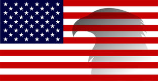 American flag with eagle image Stock Photography