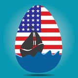 American Flag Egg Stock Images