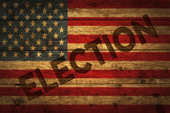 American flag with Election text. Stock Photography
