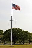 American Flag at Everglades National Park Royalty Free Stock Photo