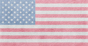 American flag on a fabric texture Stock Photography