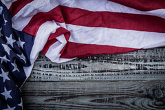 American flag ( Filtered image processed vint Stock Photo