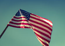 American flag  ( Filtered image processed vintage e Stock Image