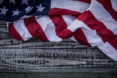American flag ( Filtered image processed vintage Stock Image