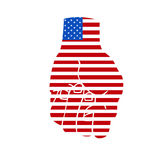 American flag fist. Vector illustration of american flag represented in a fist Royalty Free Stock Photo