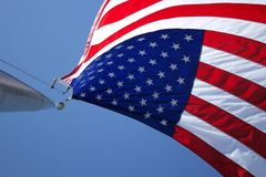 American Flag on Flagpole Stock Images