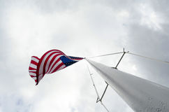 American flag on flagpole Stock Photo