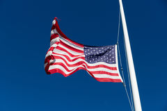 American flag flapping in the wind Stock Photography