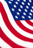 American flag in flowing, vertical format background Royalty Free Stock Images