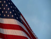 An American flag flowing in the wind stock video