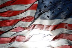 American Flag Fluttering in the Air stock photo