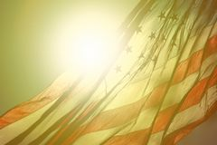 American Flag Fluttering in the Air royalty free stock image