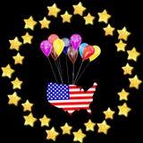 American flag flying Stock Photo
