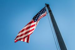 Old Glory Flying High stock images