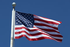 American flag. Flying high in Brooklyn, New York Stock Photos