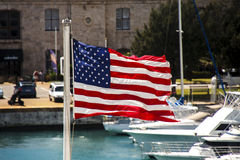 Free American Flag Flying In Bermuda Royalty Free Stock Images - 25225409