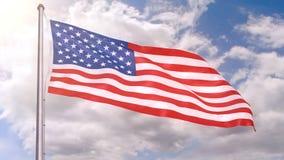 American flag stock video